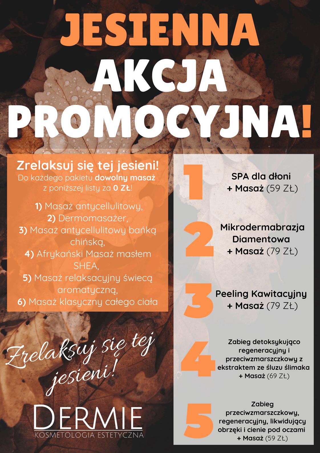 Plakat-jesienna-akcja-promocyjna-dermie-kosmetologia