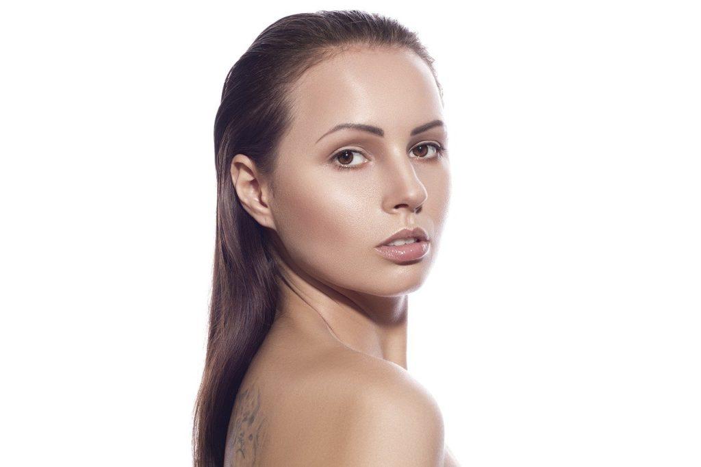 Kobieta-skóra-piętkno-portret