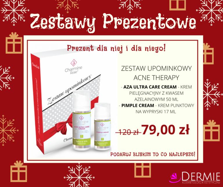 Zestaw prezentowy dla kobiety - acne therapy charmine rose